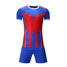 Professional Custom Adult 2017 Soccer Jerseys Set Uniforms Football Clothes Kit Cheap Breathable Football Shirt Tracksuit(China)