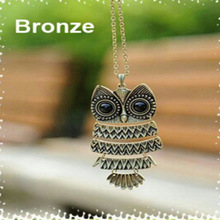 Fashion accessories jewelry New owl pendant long chain necklace gift  for women girl wholesale N1625