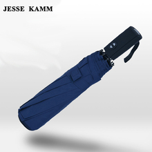 JESSE KAMM Large Big  For Women Men Umbrella Oversized folding double three fold umbrella male dual fully-automatic schoolgirl
