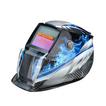 Bule Flame Solar Auto Darkening Welders Welding Helmet Mask+Grinding Mode Automatic Welder Filter Lens(China)