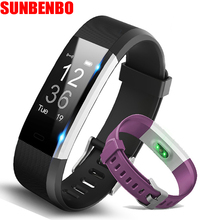 SUNBENBO H115 Smart Bracelet GPS Fitness Tracker Watches Band Heart Rate Monitor Step Counter Music Control Wristband pk fit bit(China)