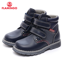 FLAMINGO 2016 new collection autumn/winter fashion kids boots high quality anti-slip kids shoes for boys XB4872-1