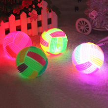 Hot item! 7.5cm Light-up Toy Sound Massager Volleyball s Fitness Body Pain Relief Ball