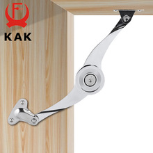 KAK Hydraulic Randomly Stop Hinges Kitchen Cabinet Door Adjustable Polish Hinge Furniture Lift Up Flap Stay Support Hardware(China)
