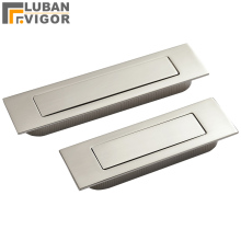 Brushed stainless steel Invisible,hidden Spring drawer /Sliding door handle Automatic closing dustproof,Hardware