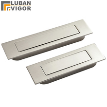 Brushed stainless steel Invisible,hidden Spring drawer /Sliding door handle Automatic closing dustproof,Hardware(China)