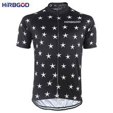 HIRBGOD Black Sky Shiny Star Mens Cycling Jersey Summer Short Sleeve Road MTB Sport Mountain Bike Jersey Clothing Shirt,NR139