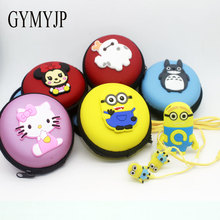 Leisure Smile Cat Totoro Cartoon Cat Hello Kitty despicable me Mini MP3 Music Player with earphone cable bag