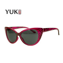 YUKII Retro Oversized Sun Ray Glasses Summer Style Fashion Cat Eye Design UV 400 Sunglasses Women Brand Designer Female Eyewear