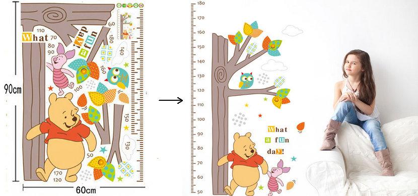 HTB1E6SQpeSSBuNjy0Flq6zBpVXaa - Baby Bear Cartoon DIY Wall Stickers For Kids Children Room Decaor 3d Window Bear Winnie Pooh Nursery Wall Decals