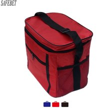High Capacity Water Proof Oxford Thermal Insulated Tote Food Drink Storage Bag Organizer For Cooler Lunch Box Picnic Camping