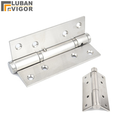 High quality ,5 inch Stainless steel Quiet hydraulic buffer hinge,Adjustable strength,Automatic closing, Door Hardware(China)
