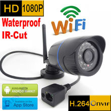 1080P ip camera wifi 1920x1080P Wireless Waterproof weatherproof outdoor cctv system security mini surveillance cam HD kamera(China)