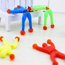 5pcs/lot 8*3cm ABS Sticky Wall Climbing Climber Men Kids Party Toys Fun Favors Supplies Pinata Fillers Birthday Party Gift 8z