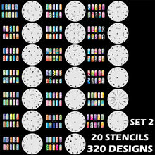 Custom Body Art Airbrush Nail Art Templates Stencil Set 2 with 20 Stencil Template Design Sheets 320 Designs(China)