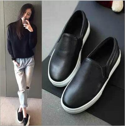 latest spring autumn solid color shoes Korean flat shoes black lazy shoes fashion shallow mouth flat shoes