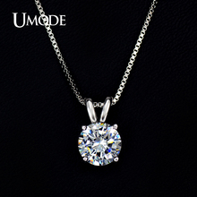 UMODE Necklaces & Pendants Best Quality Hearts & Arrows CZ Pendant Necklace For Women Wedding/Party Jewelry AUN0047
