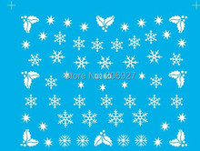 2PCS D260 Snowflake Nail Art Water Decal Nail Water Transfer Sticker