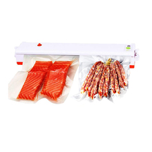 US/EU/UK Plug 110V/220V Household Food Vacuum Sealer Packaging Machine Film Container Food Sealer Saver Include 15pcs Bags Free(China)