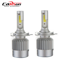 H4 H7 H11 H1 H3 9005 9006 COB LED Lamp Headlight 72W 8000LM All In One Car LED Bulb Led Headlamp Fog Light(China)