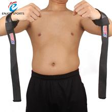 SX511 2 pcs Weight Lifting Barbell Hand Wrist Bar Support Gym Strap Body Building Wrist Support Black Wrist strap
