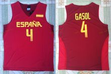 2016 Team Spain Basketball Jerseys Red White mEN 5 Fernandez 4 Pau Gasol 79 Ricky Rubio Jersey Sport All Stitched Excellent Qual(China)