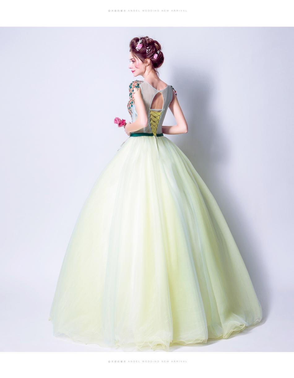 Angel Wedding Dress Marriage Bride Bridal Gown Vestido De Noiva 2017 Green, embroidery, the wizard of Oz 2217 17