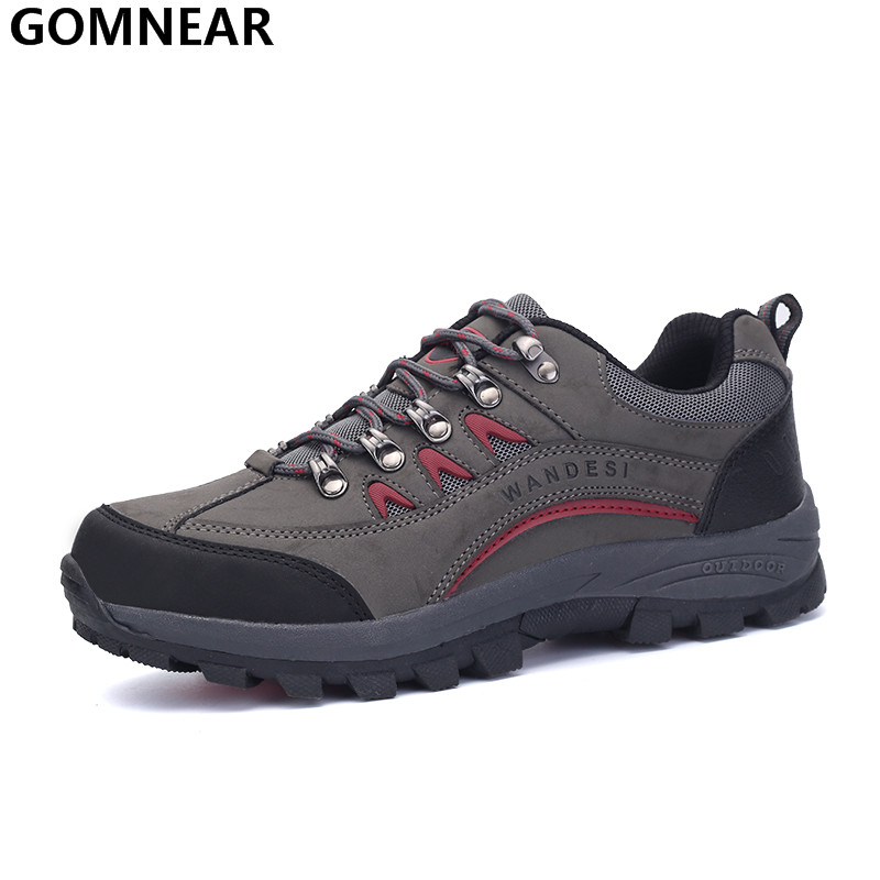 GOMNEAR Mens Top qulity Hiking Shoes Outdoor Hunting Climbing Sport Shoes Antiskid Mountain Hiking Trekking Athletic Chaussure<br><br>Aliexpress