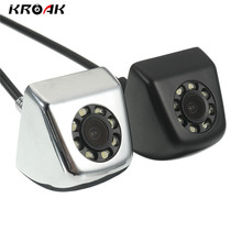 KROAK CCD HD Car Rear View Camera Real Waterproof 140 Degree Wide Angle 8 LED Night Vision Parking Reversing Assistance(China)