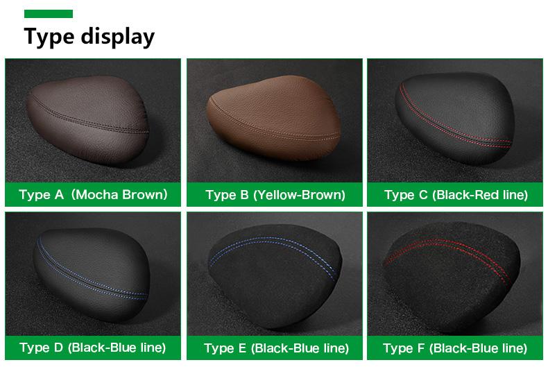 Leather Leg Cushion Knee Pad Thigh Support Pillow Interior Car Accessories for BMW E46 E39 E60 E90 E36 F30 F10 X5 Z4 7 (2)