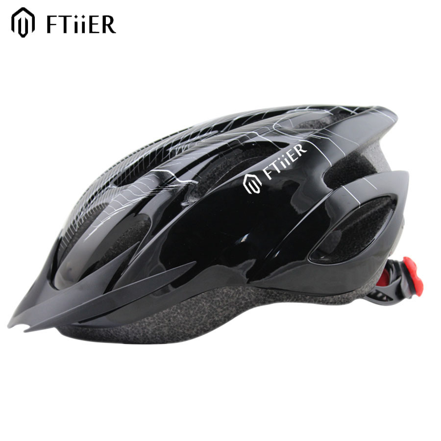 Ftiier 2017 Bike Helmet Cycling Helmet Adjustable Bike Road Mountain Unisex Shockproof ultralight with Visor 56-62CM<br><br>Aliexpress
