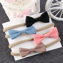 4Pcs/Set Fashion Cute Kid Girls headband Bowknot Headbands Bows Band hair accessories acessorios para cabelo
