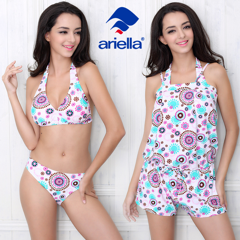 Ariella 2017 New Sexy Bikinis Women Swimsuit High Waisted Bathing Suits Swim Halter Push Up Bikini Set Plus Size Swimwear XL<br>