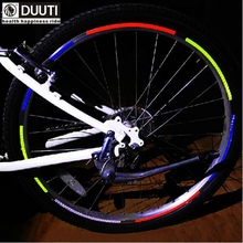 5pcs Bicycle reflector Fluorescent MTB Bike Bicycle Sticker Cycling Wheel Rim Reflective Stickers Decal Accessories