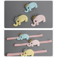 2017 New Cartoon ANIMAL crown Elephant hair clip cute headand kid girls Princess Barrette child toddler hair accessories D38