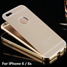 "For iPhone 6 6s 4.7"" Acrylic Ultra Thin Metal Case Luxury Aluminum Frame Plastic Panel Phone Back Cases Cover For iPhone6 6s"