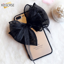 KISSCASE Sexy Elegant Lace Bow-knot Plastic Case For iPhone 7 7 Plus Fashion Bow Hard PC Phone Case For iPhone 7 7 Plus Coque