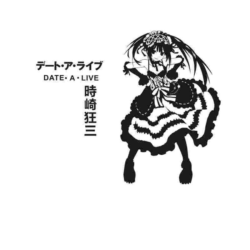 Pegatina DATE A LIVE Sticker Anime Cartoon Tokisaki Kurumi Car Decal Sticker Vinyl Wall Stickers Decor Home Decoration