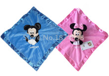 New Mickey Minnie Plush Blankie for Baby Toy Newborn Reassure Towel Snuggle Blanket by Kids Girls Boys Preferred 33*33cm