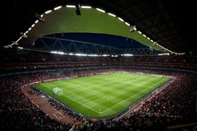 stadium emirates champions league soccer cloth silk art wall poster and prints
