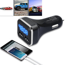 Universal Mobile Phone 2 USB Port Double Dual Mini Car Charger Adapter Power