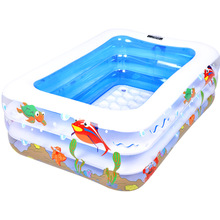 Portable Baby Swimming Pool Piscina Eco-friendly PVC Inflatable Children Basin Bath Tub Kids Summer Playground 120cm/140cm(China)