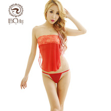 Leechee Q743 Women sexy lingerie Chinese style embroidery belly pocket lenceria sexo Babydoll erotic underwear porn costumes(China)