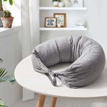 BEYOND 16.5*67cm Striped U-shaped Pillow Neck Travel Pillow Rest Cushion for Adults Children Sleeping Easy-Taking Pillows(China)