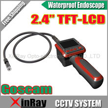 GOSCAM GL8805 9mm Diameter Digital Snake Endoscope Borescope Inspection Camera 1M Flexible Cable 2.4inch TFT Screen