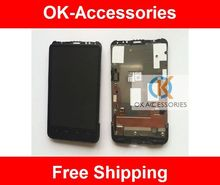 Black Color For HTC G10 Desire HD A9191 A9199 LCD Display+Touch Screen Digitizer Assembly With Frame 1PC/Lot