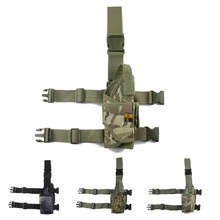 Adjustable Pistol Drop Leg Holster Tactical Military Airsoft Pistol Gun Thigh Holster for Right Handed(China)