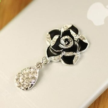 2pcs DIY Phone Case Decoration Accessory Bling Deco Kit Alloy Flatback Crystal Rhinestone Flower