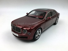 Kyosho 1:18 Bentley Mulsanne Speed 2016 (Rubinho Red) Diecast Model Car Simulation Model Mini Vehicle Collectable