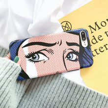 ins hot cartoon eyes case iphone X 7 7Plus soft silicon Case iphone 6 6s 6Plus 6splus 8 8plus back cover